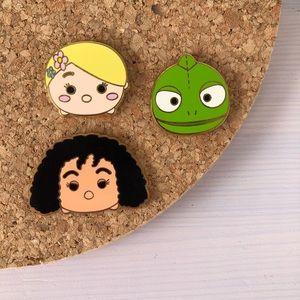 Disney Tsum Tsum Pins - Set of 3 Pins - Tangled